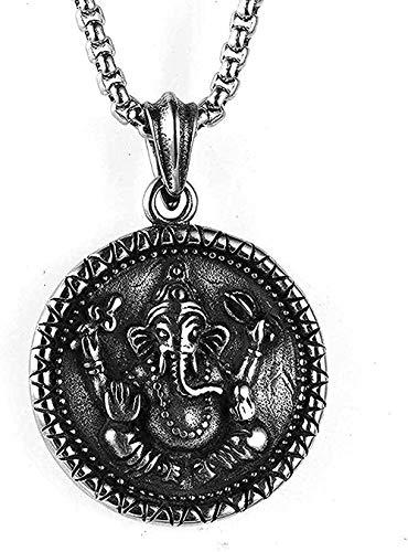 Collana Donna Collana in acciaio inossidabile Collana di gioielli per uomo Thailandia idolo Collana con pendente in acciaio al titanio Regalo per donna Uomo Regali