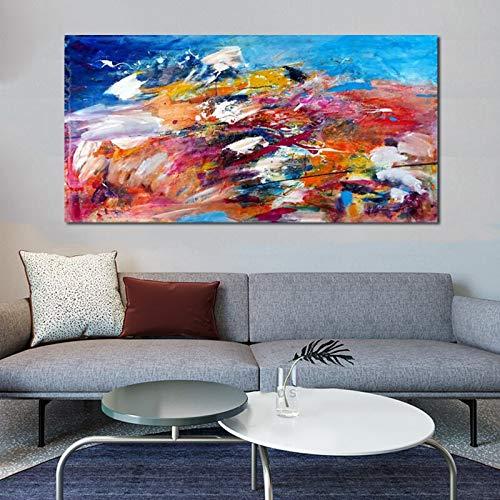 wZUN Pintura Abstracta Lienzo Cartel decoración del hogar Cuadros de Pared para Sala de Estar...