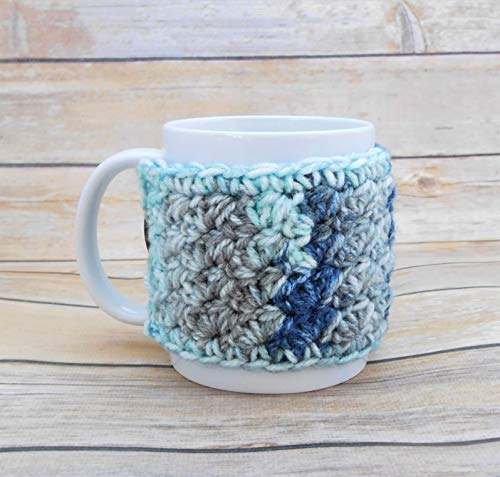 crochet coffee cup cozy - 6