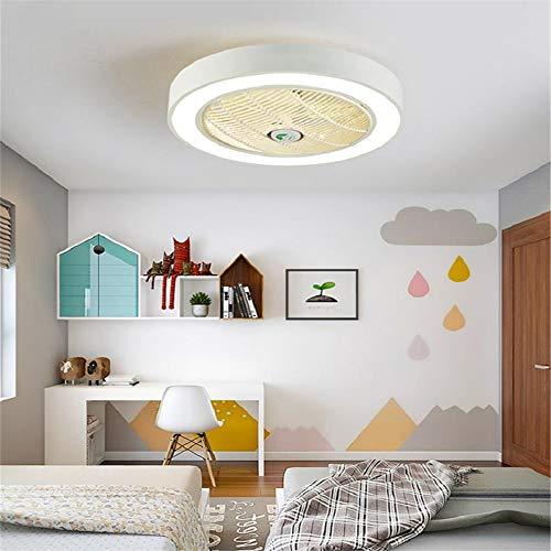 Ventilador De Techo Inteligente De Diseño Moderno Con Función De Control Remoto Y Luces LED, Motor Silencioso, Velocidad E Iluminación Ajustables Del Viento, Energy Star,Blanco