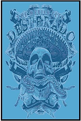 Diseño retro original México cráneo carteles de chapa de hojalata arte de la pared, cartel de impresión de hojalata gruesa decoración de la pared 30x40cm