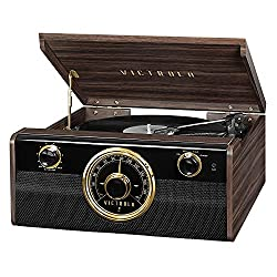 in budget affordable Victrola Wood Metropolitan MidCentury Contemporary Bluetooth Record Player and 3-Speed Record Player…