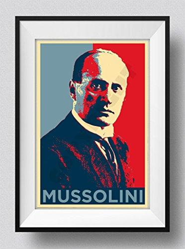 The Pop Culture King Benito Mussolini Stampa Artistica 'Hope' - Fotografico Poster Regalo - Dimensioni: 60 x 40 cm
