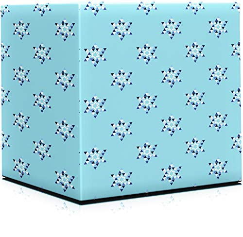 Happy Hanukkah Gift Wrap Chanuka - Star of David Design 17.5IN. X 144 in. Each (Pack of 2 Rolls)