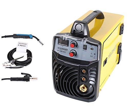 MIG-MAG Schutzgasschweißgerät/Schweißinverter ME 200eco von WELDINGER 200A auch Elektrodenschweißen möglich 5 Jahre Garantie