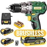 "Best Cordless Drills - Cordless drill, Brushless 20V 1/2"" Drill Driver, 2x2000mAh Review"