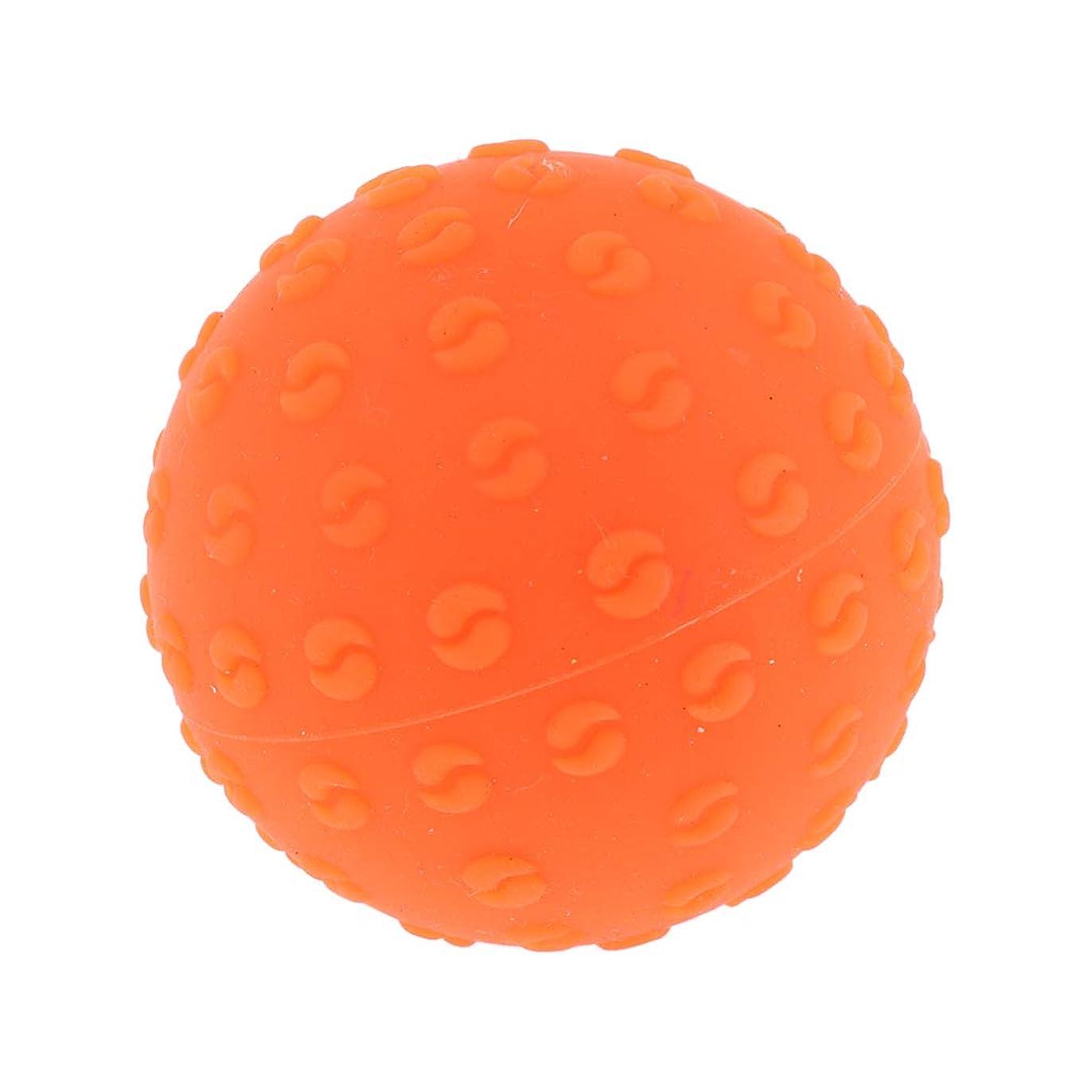 見出し炭素ペンス全6色 シリコーンマッサージボール 指圧ボール トリガーポイント ヨガ 肩、足、首、腕 解消 耐摩耗 - オレンジ, 説明のとおり
