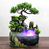 𝐒𝐢𝐦𝐥𝐮𝐠 Desktop Fountain Waterfall Decor, Atomizing Desktop Humidifier...