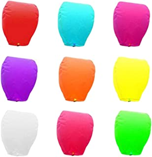 20 PCS Sky Lanterns Paper Assorted Color Fly Wishing Lanterns for Birthday Birthday Wedding Festival Party