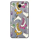 dakanna Funda Compatible con [ Meizu M3 Note ] de Silicona Flexible, Dibujo Diseño [ Patrón Patines Retro ], Color [Fondo Transparente] Carcasa Case Cover de Gel TPU para Smartphone