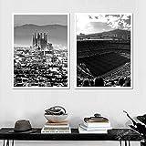 HNGFV Barcelona Skyline Poster Und Kunstdrucke Spanien