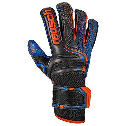 Reusch Attrakt G3 Fusion Evolution - Guanti da portiere da uomo, colore nero/arancione / blu scuro
