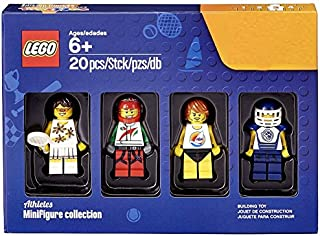 Set de minifiguras de atletas LEGO Bricktober (tenista, piloto de carreras, surfista y jugador de hockey) 5004573