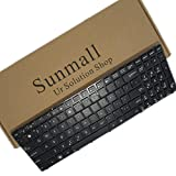 SUNMALL Keyboard Replacement with Frame for ASUS K50 X5DI K50AB K70 X5IC X5DC X66IC K50IN K70IN K50IE K50E K51 K60 K50X K50A K50AB K50IJ K50ID K50IN K61 K62 K71 K72 X66IC X5D Laptop US Black