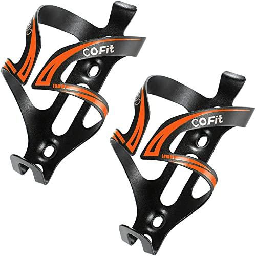 COFIT Portabidón para Bicicleta, Ajustable Soporte Botella Bicicleta Aluminio Ligero Estable para MTB, BMX y Bicicleta de Carretera, Ciclismo al Aire Libre, 2 Unidades