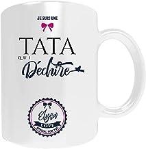 Cadeau tata à personnaliser avec votre prénom - mug pour votre tata personnalisé - cadeau noël tata - cadeau d'anniversair...