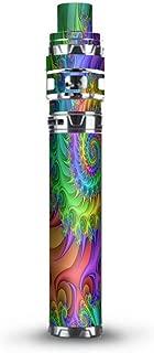 Skin Decal Vinyl Wrap for Smok Stick Prince Kit TFV12 Prince Vape Kit skins stickers cover/ Trippy Color Swirl