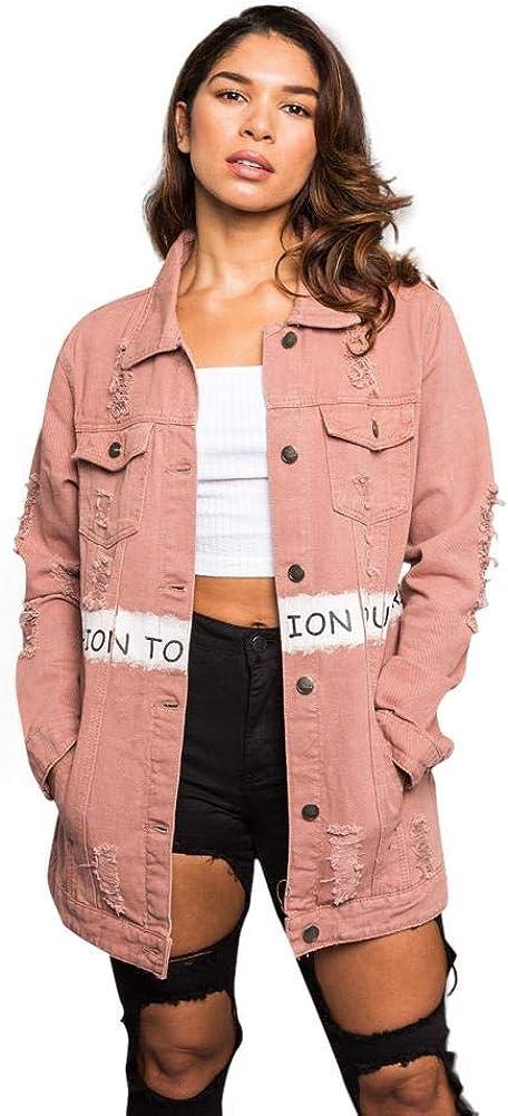 American Bazi Women's Destroyed Denim Jacket