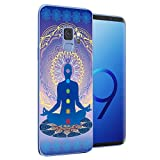 Cocomong Chakra Yoga Case Compatible with Samsung Galaxy S9, Clear Soft TPU Mandala Phone Case for Galaxy S9(2018) Design for Women Men