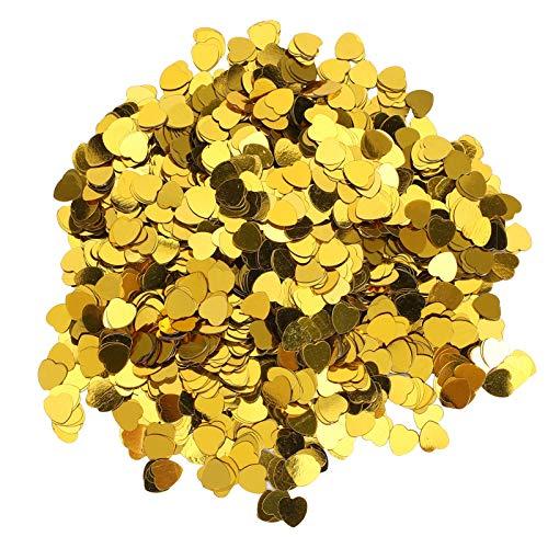 Jeanoko Exquisito confeti de mesa de 3000 piezas de confeti simple y elegante con lentejuelas para hacer tarjetas de mesa para suministros de fiesta, álbumes de recortes, embalaje de regalo (dorado)