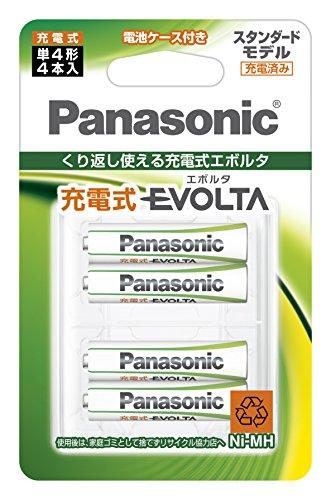 パナソニック 充電式エボルタ 単4形 4本パック(スタンダードモデル BK-4MLE/4BC