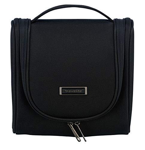 Travelite stil Kulturtasche, Knitterfrei reisen, Klassische Gepäck-Serie Mobile macht Sie auf Geschäftsreise mobil, 24 cm, 7 Liter, schwarz