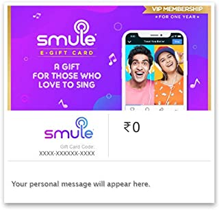 Flat 20% off at checkout  Smule E-Gift Card