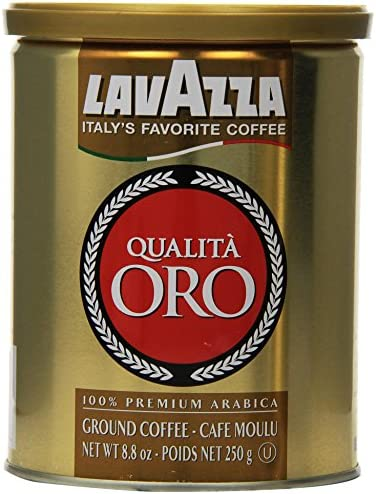 Lavazza Qualita Oro Ground Coffee 8oz Cans Pack Of 2 product image
