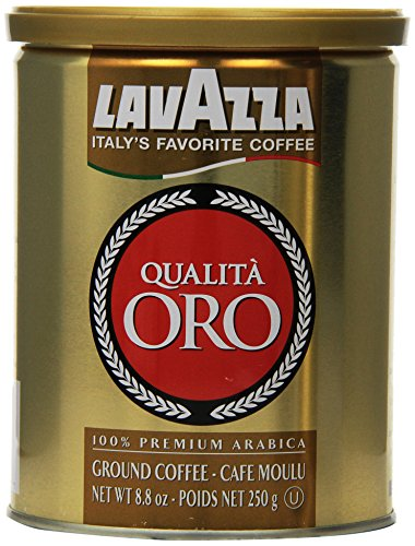 Lavazza Qualita Oro Ground Coffee, 8oz Cans (Pack Of 2)