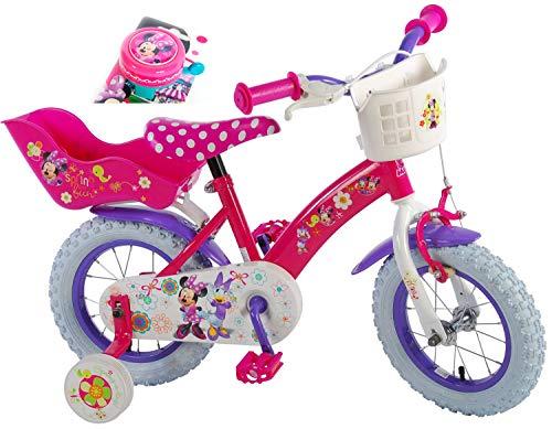 Minnie Mouse Kinderfahrrad Disney Bow-Tique 12 Zoll   Rücktrittbremse Korb Puppensitz + Extra Fahrradklingel Vormontiert 3-4 1/2 Jahre