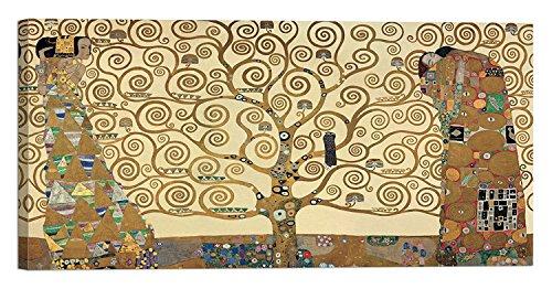 """Cuadro """"Árbol de la vida"""" de Gustav Klimt, 100x 50cm: Impresión sobre lienzo con bastidor de madera"""