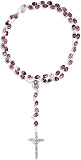 Vatican Imports Italian Glass Swirl Rosary | 4 Colors | Beautiful Unique Necklace for First Communion | Christian Jewelry