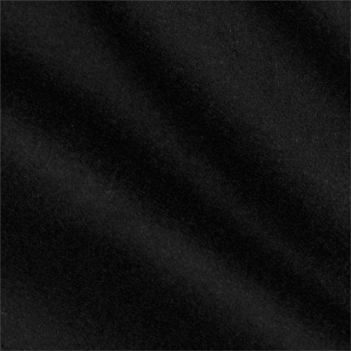 Telio Wool Blend Melton Black, Fabric by the Yard