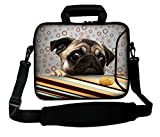LUXBURG 17' Inches Luxury Design Laptop Notebook Sleeve Soft Case Bag with Handle and Shoulder Strap