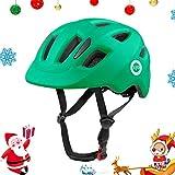 ヘルメット こども用 自転車 ヘルメット 幼児 児童用 1歳半-8歳向け キックボート サイクリング バイク 保護用ヘルメット 超軽量 サイズ調整可能 (グリーン, S(50-54cm))