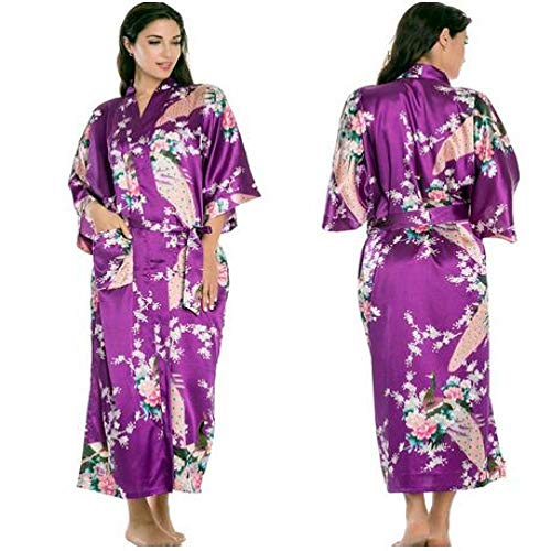 Handaxian Brautkleid Robe Silk Robes Silk Pyjamas Lässige Bademantel Rayon Lange Pyjamas Als Foto Zeigen XXXL