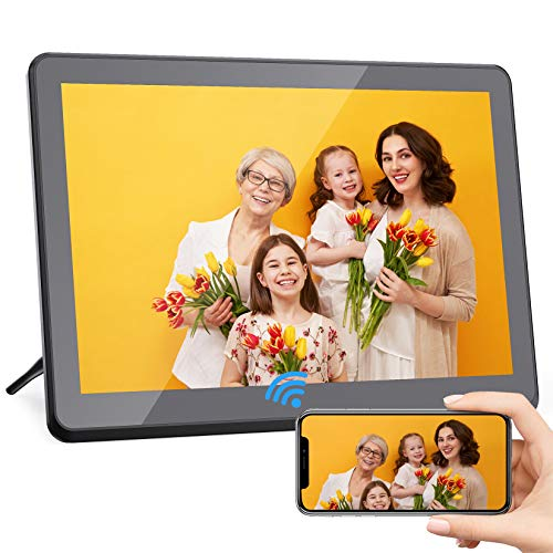 Digital Photo Frame WiFi 10 Inch with FHD 1920x1080 IPS Touch Screen Digital Picture Frame 8GB Storage, Auto-Rotate, Sharing Photos via App, Email, Cloud