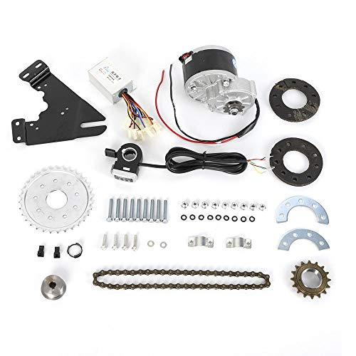HaroldDol Elektro Ebike Conversion Thumb Kit, Elektro-Fahrrad Umbausatz Hinterrad Heckmotor, 250W 24V Bürstenmotor mit Freilauf
