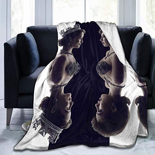Manta de felpa Elizabeth II Imelda Staunton, diseño de escándalo político, ultra suave y esponjosa, tamaño de viaje para sofá, silla, sofá, 80 x 60 pulgadas
