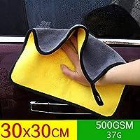 1 * クリーニングタオル生地洗車タオル窓食器洗浄布ぼろドライ強力な吸収ソフト高品質-30 30CM