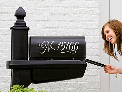 Mailbox Number Sticker | Numbers for Mailbox | Custom Mailbox Decal | Set of 2 Decals