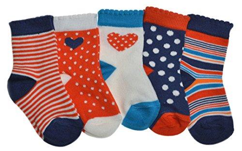 WB Socks 5 Paar Babysocken, Mächen, Baumwolle, Vielzahl and Gröβen erhältlich