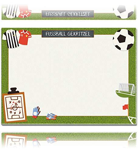 Tapete de escritorio XXL de papel DIN A2 para niños, bloc de 25 hojas con mucho espacio para pintar, escribir o garabatear, base de escritorio para niños, decoración de escritorio