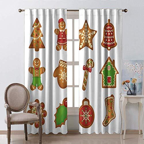 Rod gordijnen voor ramen, Kerstmis Romantische Nieuwjaar staaf Pocket Window Gordijnen