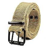 Cinturon Hombre Trabajo Hebilla De Agujas Cinturón De Nylon De Los Hombres Entrenamiento Militar Del Estudiante De La Expansión Al Aire Libre Cinturón De Los Pantalones Zhongqing Adulto Cinturón-Lobo