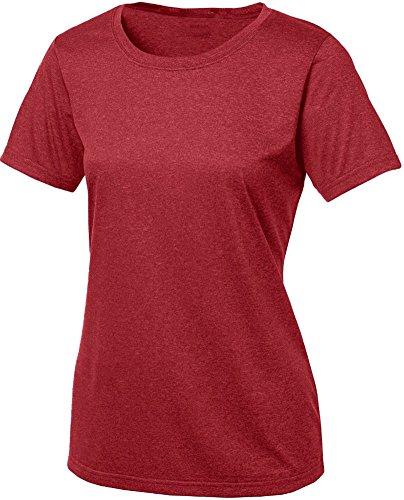 Ladies Athletic Heather todos en entrenamientos deportivos camisetas de mujer tamaños: XS-4X L -  -