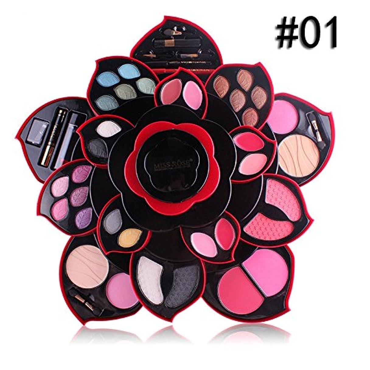不幸関係するグラスビューティー アイシャドー wwkeiying アイシャドウセット ファッション 23色 梅の花デザイン メイクボックス 回転多機能化粧品 プロ化粧師 メイクの達人 プレゼント (A) (A)