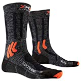 X-Socks Trek X Merino Socks Calcetines De Senderismo Trekking Hombre Mujer Socks Calcetines, Unisex adulto, Grey Duo Melange / X-Orange / Black, 39/41