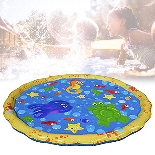 Starter Tapis de jet d'eau, PVC durable gonflable Sprinkle Splash Play Tapis de pulvérisation d'eau Mat Kids Pool Pad pour Summer Fun Beach Jeux de pelouse en plein air.