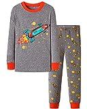 Pijamas Niños 4-5 Años Conjunto de Pijama 100% Algodón con Manga Larga y Estampados Cohete Planeta para Niños Invierno-Pijama Dos Piezas PJs